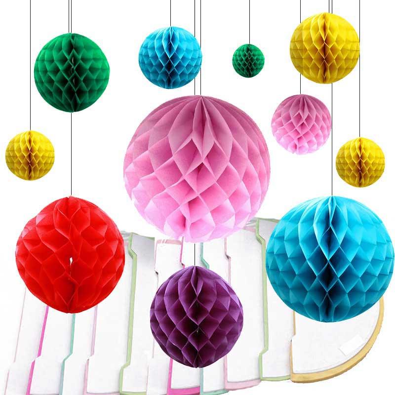 5 Pcs Honeycomb Lampions Fête de Mariage la Balle Beauté