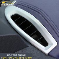 GELINSI Air conditioner up vent frame Trim Stickers Covers Interior Accessories For Toyota 2018 C HR Auto Car
