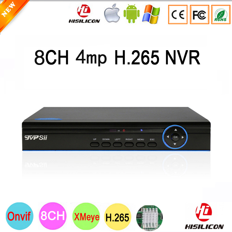 Blue Panel Hi3536D Xmeye 8CH*4MP/4CH*5MP HD Digital 8CH 8 Channel 4MP H.265 IP ONvif Camera NVR Video Recorder Free Shipping