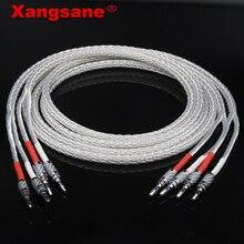Посеребренный Hi Fi кабель для динамика xangразы 8ag OCC, высокопроизводительный кабель для подключения динамика к звуковому усилителю, Y Y/banana Y и т. д.