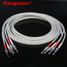 Xangsane alto falante, 8ag occ, cabo prateado, hifi, alto falante de alto desempenho, amplificador de som, cabo de conexão Y Y/banana y etc.