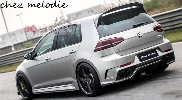 Aspec ppv400 haute qualité réel de fiber de Carbone/primer non peint FRP Spoiler De Toit De Voiture Pour Volkswagen GOLF7 MK7 7.5 GTI /R 2014-2017