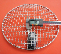 Diameter 330mm Round stainless steel 304 grill net BBQ grill meshes