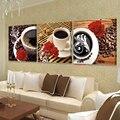 Modular kitchen home decoración de la pared pintura de la flor decoración de la lona de arte moderno cuadros a la venta de pintura flores kunst bilder verde