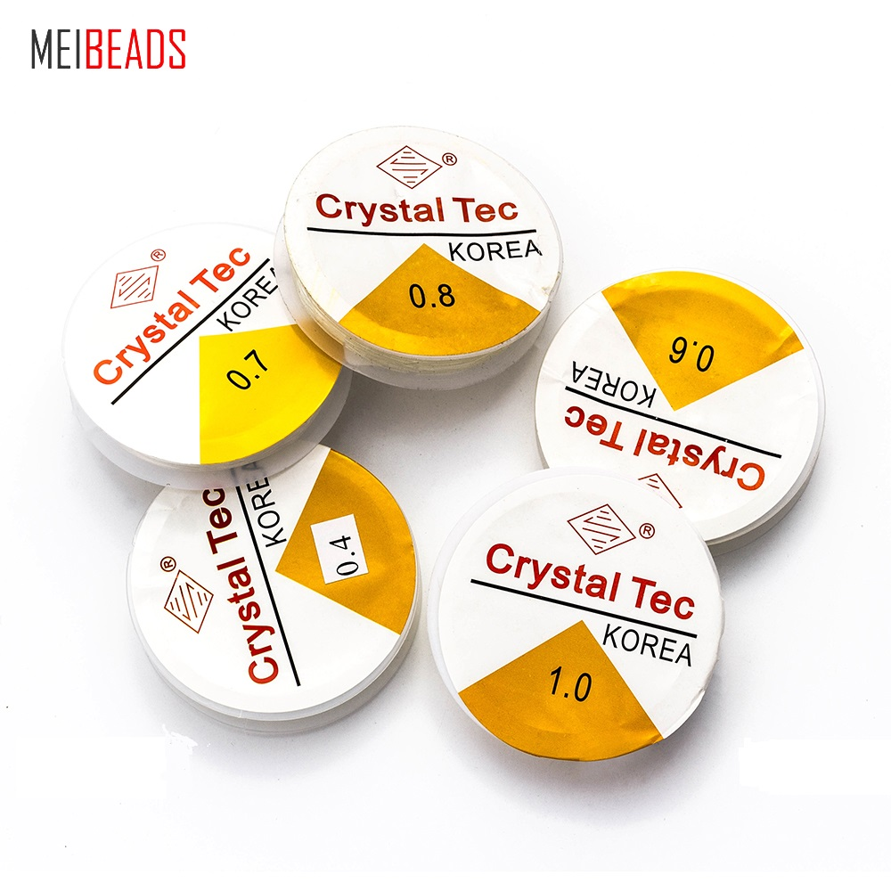 MEIBEADS 20 Meters 0.4/0.6/0.7/0.8/1mm Spool Of Crystal Clear Stretch Elastic Beading Wire/Cord/String/Thread UF5531