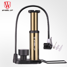 WHEEL UP 2017 New Arrival Portable Pump Ultra-light Bike Pump Hose With Pressure Gauge With 120 Psi High Pressure Bicycle Pump 2107 new hg 90 120 high pressure vortex pump