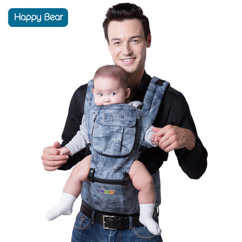 HappyBear Baby Carrier Ergonomic Baby heaps carrier multifunctional backpacks & carriers infant Backpack kangaroo sling wrap brand ergonomic baby carrier breathable front facing infant baby sling backpack pouch wrap baby kangaroo for baby newborn sling