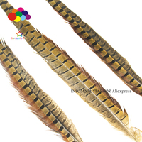 100Pcs/Lot 45 50cm 18 20inch Natural Ringneck Pheasant Tail Feathers for Crafts Wedding Decorations Pheasant Feather Plumes