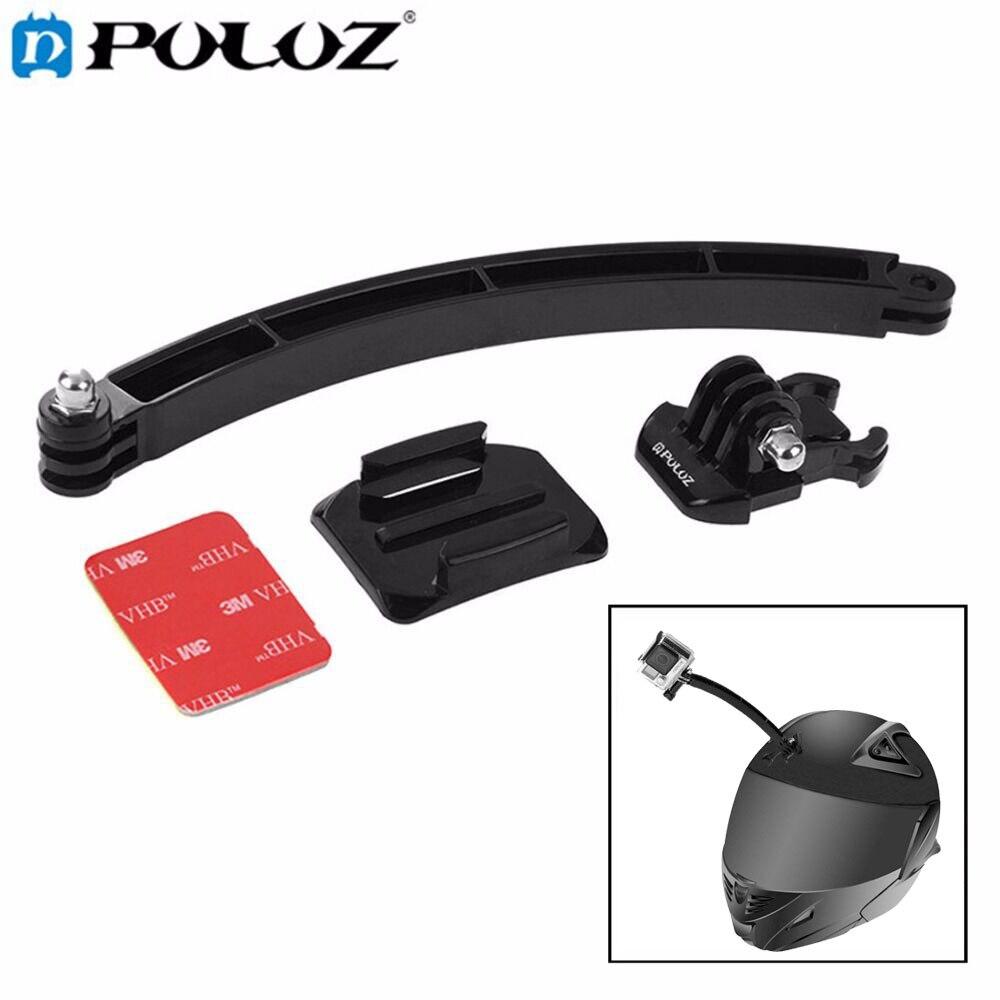 Puluz для GoPro Интимные Аксессуары Открытый Мотоцикл Велоспорт шлем раздвижного кронштейна и комплект для GoPro HERO5/4/3 +/ 3/2/1