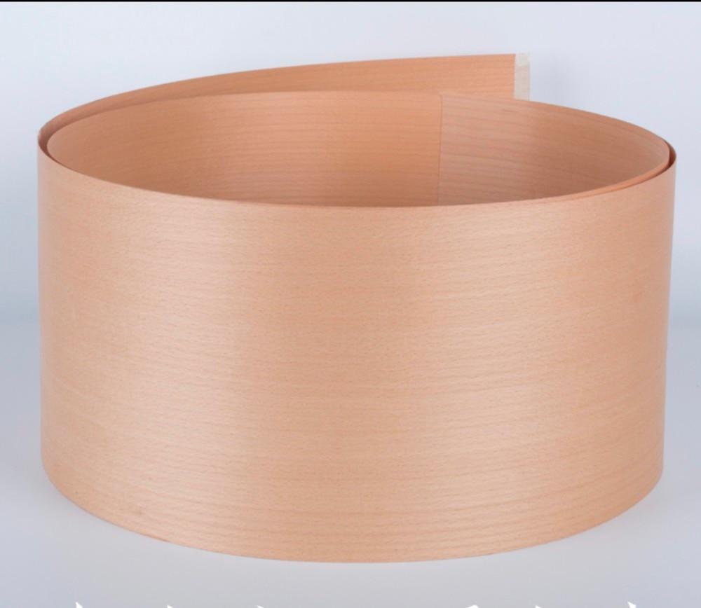 L:2.5Meters Width:180mm Thickness:0.52mm European natural red beech veneer straight