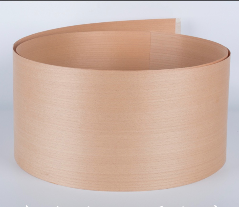 L:2.5Meters Width:180mm  Thickness:0.52mm Natural Red Beech Straight Wood Veneer
