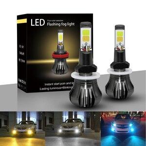 Image 2 - Ampoule de voiture anti brouillard, lumière blanche, bleue ou jaune, pour le jour, H8 H9 H11 H3 880 881 H27 LED, 12V 55W