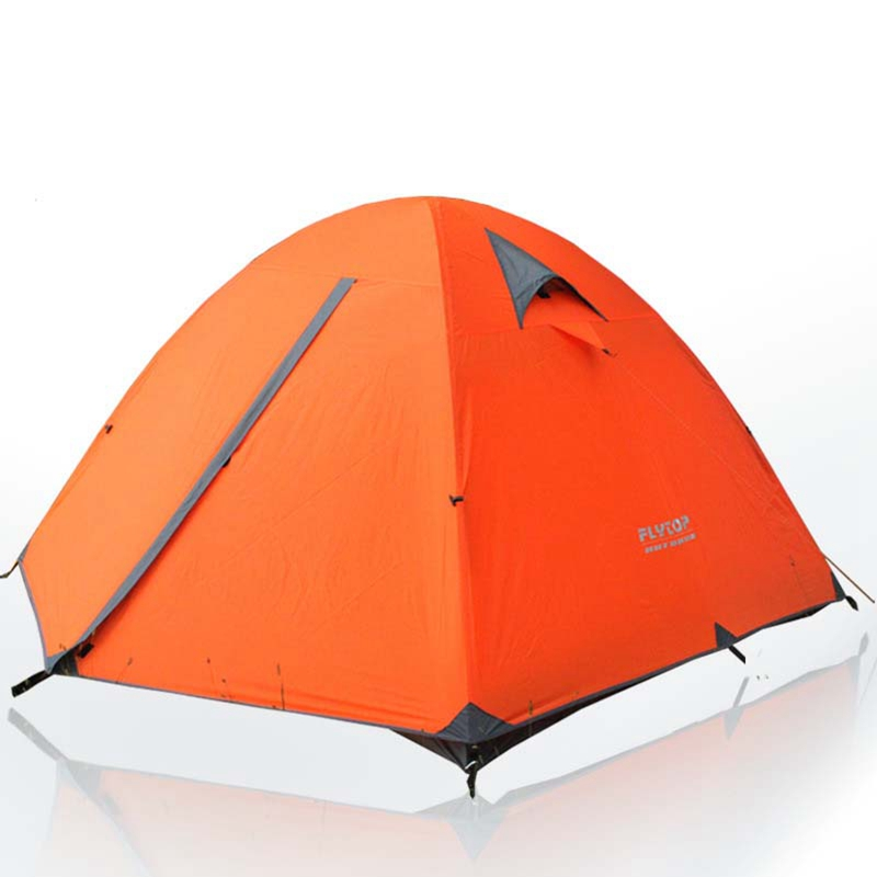 Flytop Ultralight Camping Tent 3-4 person travel Tents Waterproof Outdoor Hiking travel aluminum alloy pole tents Portable outdoor winter tent aluminum alloy mountaineering tourist tents ultralight camping tent 1 person