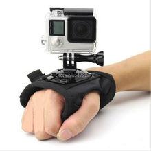 L Dimension Gopro Equipment 360 Diploma Rotation Glove-style Wrist Hand Mount Strap Holder for GoPro Hero four/three+/three/2/1