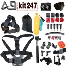 A9 for Gopro equipment set for EKEN H9R F60R W9R Xiaomi Yi 4K SJ4000 Motion Cam with Head Strap Floating Stick