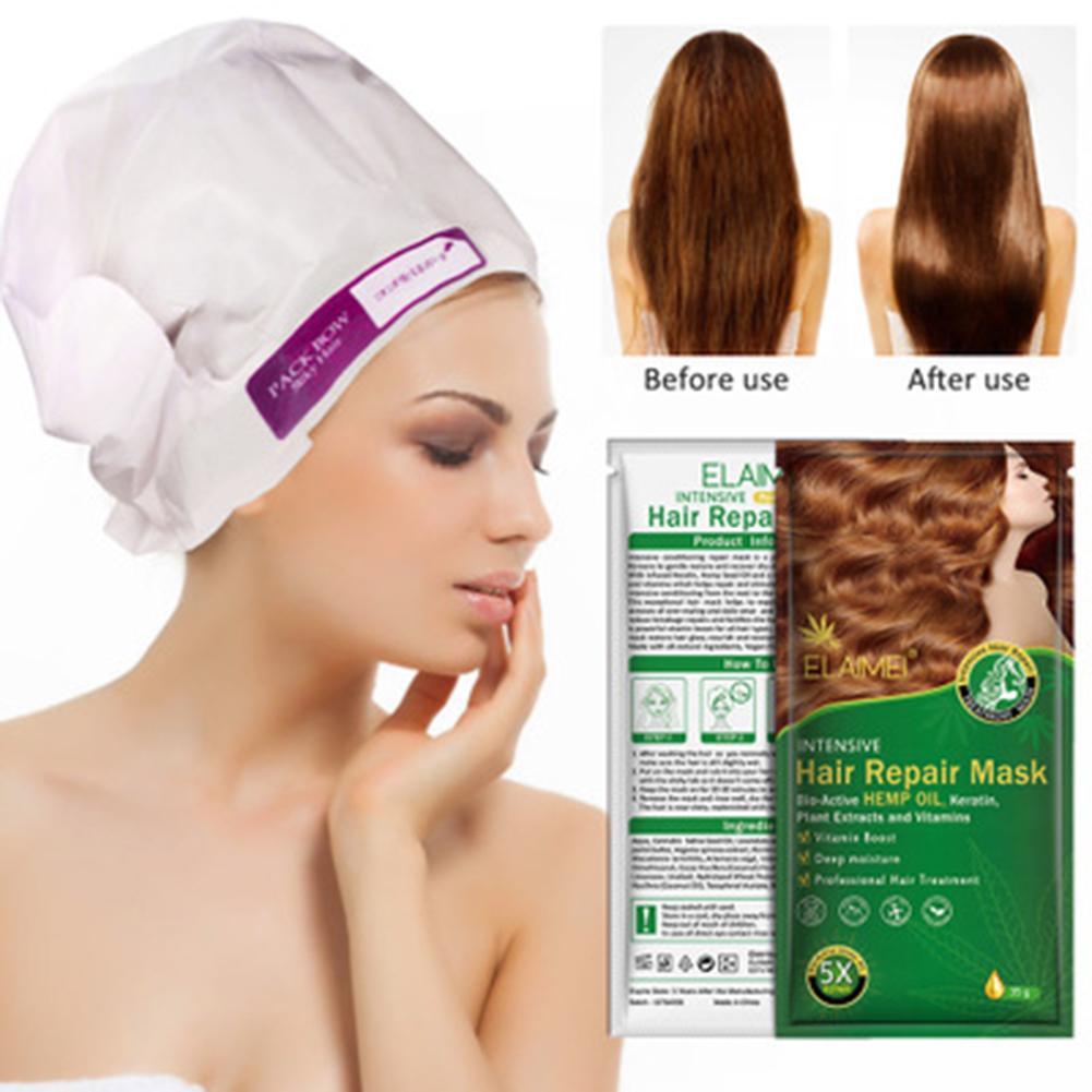 Hemp Oil Hydrating Hair Repair Mask With Plant Extraction Moisturizing Treatment Hair For Men Women All Hair Types Hair Care