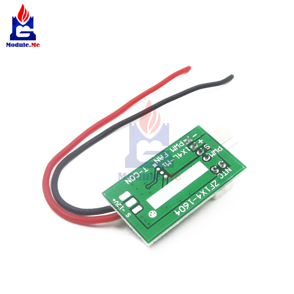 hight resolution of 1 dc 12v pwm temperature detector probe controller 4 wire temperature fan speed controller governor for pc fan alarm stk ic