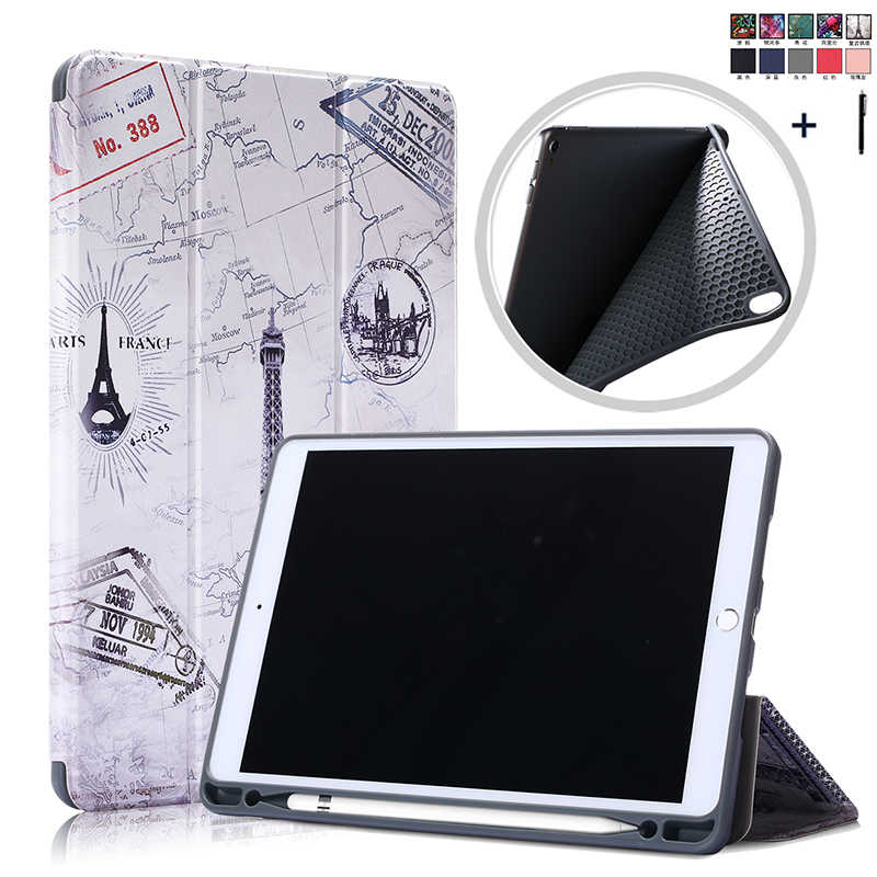 Flip Leather Case For iPad Air 3 10. 5 Pen Holder Smart Wake Sleep Cover For iPad Pro 10.5'' Back Stand Capa Fundas +Stylus
