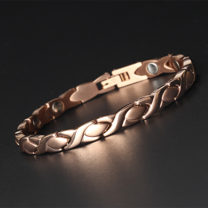 Lady Titanium Steel Electroplating Bracelet Simple Magnet Magnetic First Jewelry AdjustableLady Titanium Steel Electroplating Bracelet Simple Magnet Magnetic First Jewelry Adjustable