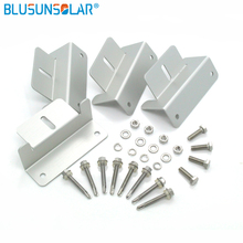 50 Sets 100% Aluminum Z  mounting Type Solar Panel Roof Mounting Bracket for carvan roof
