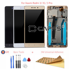 For Xiaomi Redmi 3/ 3s/ 3 Pro LCD Display Frame Touch Screen Panel LCD Digitizer Redmi 3 Frame Assembly Replacement Repair Parts
