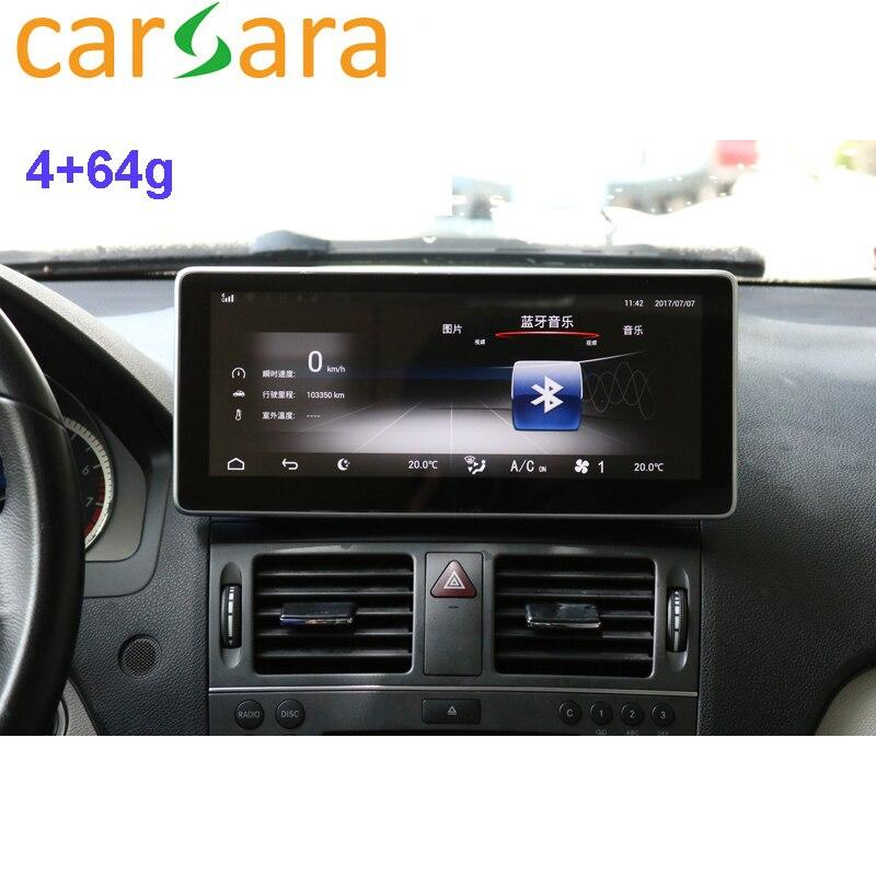 Tablet 10.25 Android Monitor de Painel de instrumentos do carro Tela Sensível Ao Toque para a Classe C W204 C250 C300 C350 Facelift 2008 2009 2010