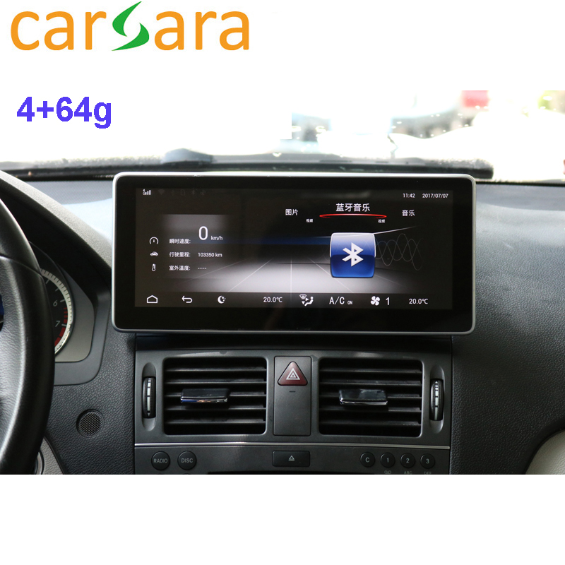 Auto Tablet 10.25 Android Monitor Cruscotto Facelift Dello Schermo di Tocco per la Classe C W204 C250 C300 C350 2008 2009 2010
