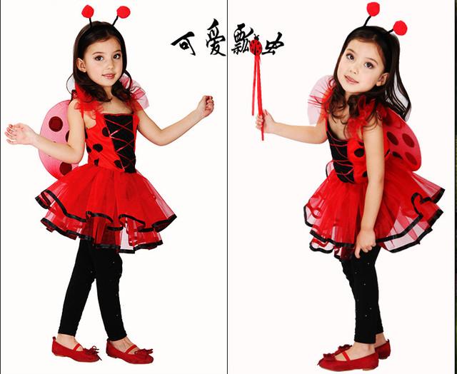 Disfraz de Halloween maquillaje Espectáculo de Danza Disfraces Ropa Niños Mariquita
