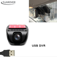 2017 Mới Dash Máy Ảnh Funrover Dashcam Camera Phía Trước Usb Dvr Android Dvd Chơi Usb2.0 Digital Video Recorder Cho Android5.1 6.0