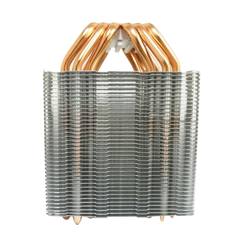 6 Heat Pipe Cpu Cooler No Fan Cpu Heatsink Fanless Cooling Radiator For Intel 775/1150/1155/1156/1366 For Amd All image