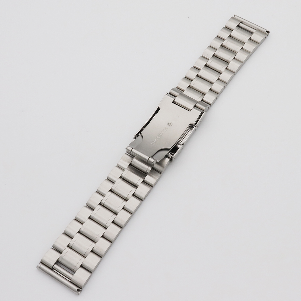 18 20 22 24mm Silver Stainless Steel Bracelet Wristband Exchange Watchband Watch Band Strap With Folding Clasp in Watchbands from Watches