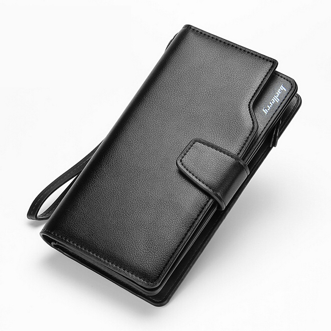 BAELLERRY Men Wallets Casual Fashion Wallet Long Male Purses Clutch bag Brand Leather Wallet Credit Card Holders Gift For Men baellerry brand pu leather wallets men purses slim new designer solid vintage small wallets male money bags credit card holders