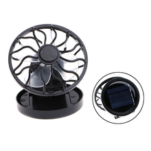 Mini Portable Clip-On Solar Panel Powered Cooling Fan For Travel Camping Fishing Drop ship