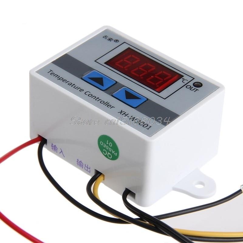 220 V Cyfrowy regulator temperatury LED 10A Termostat Przełącznik - Przyrządy pomiarowe - Zdjęcie 4