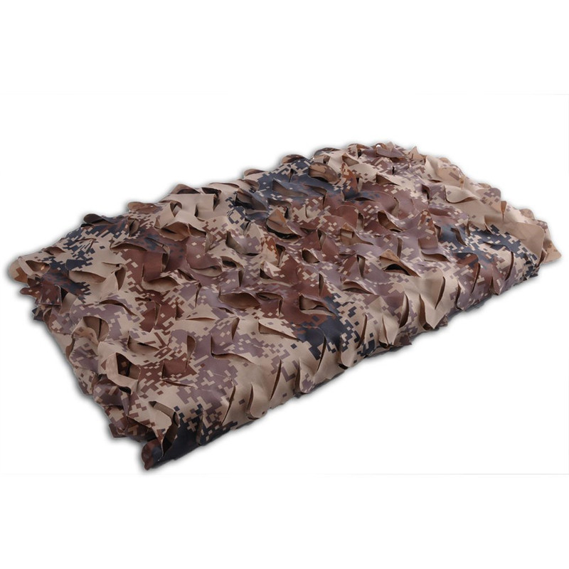 ФОТО 4M*4M Desert Digital Military Filet Camouflage Net Car Covers Hunting Camouflage Netting Sun Shelter Tent Military Camo Netting