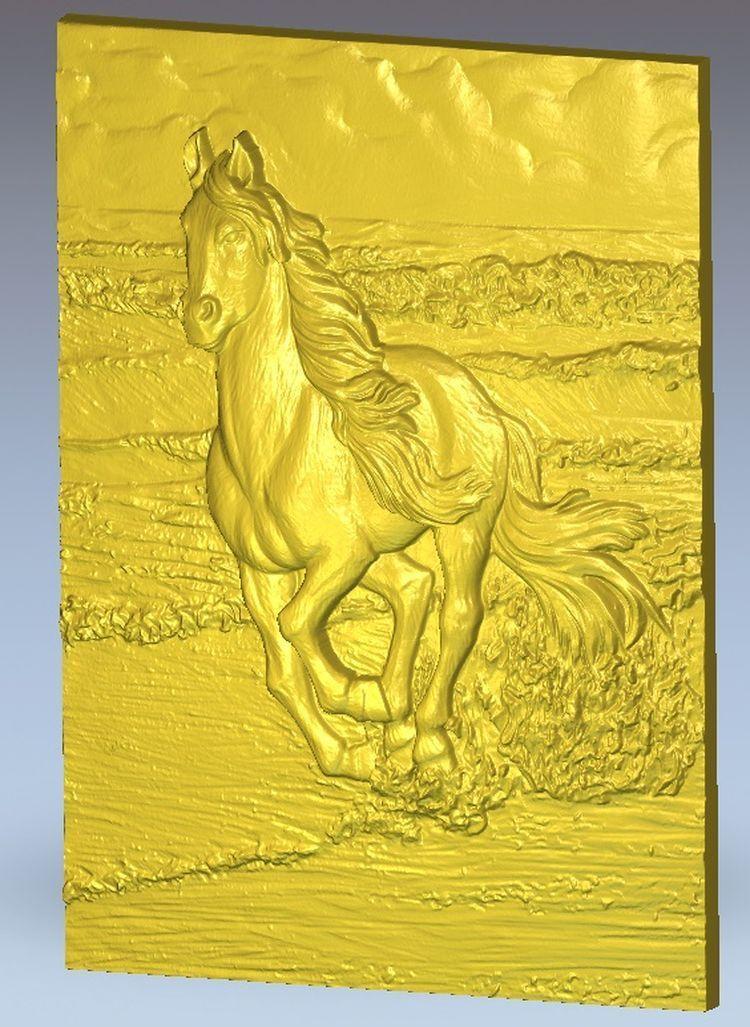 horse_15 relief for cnc in STL file format artcam model 3d