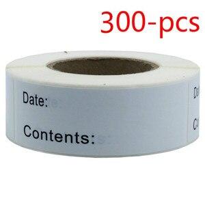 1 x 3 Inch 300 pcs wedding-decoration Home kitchen Food Storage Labels Freezer & Refrigerator Freezer Labels Adhesive Label