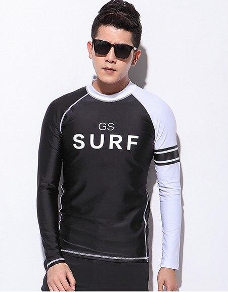 Hommes à manches longues haut de combinaison de plongée maillots de bain noir surf chemise mâle séchage rapide natation chemise sports nautiques chemises méduses vêtements
