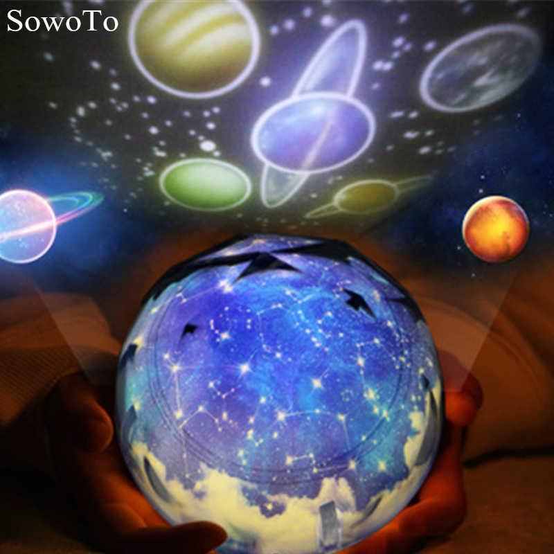 Волшебный планетарный проектор Вселенная светодиодный ночник лампа красочный поворотный мигающий Звездное небо проекционный светильник для детей лучший подарок