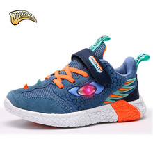 Kids Light Up Shoes LED Toddler Boys Sneakers Dinosaur Mesh Breathable Children Glowing Sneakers Running Trainers Shining Shoes