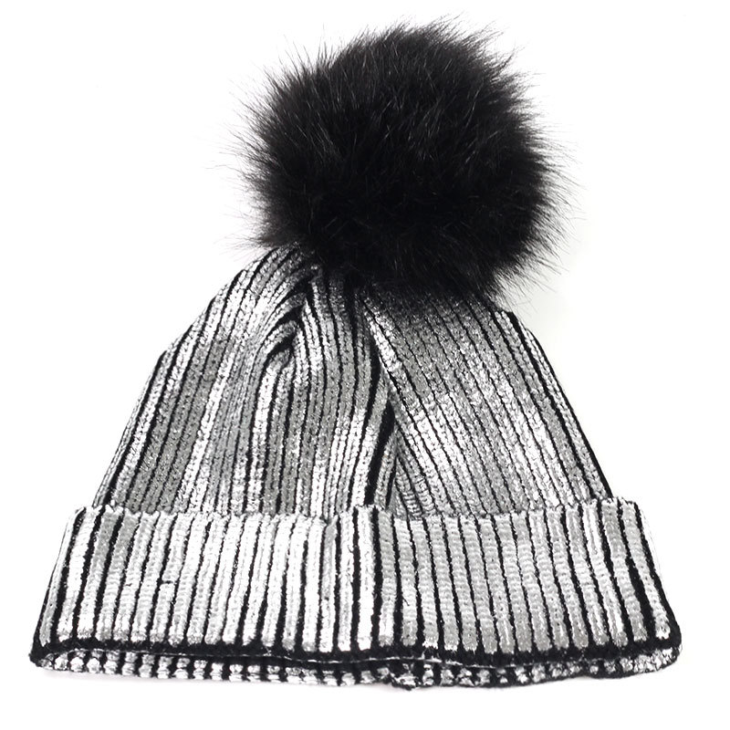 Women Hat Knitted Hats Solid Color High Quality Winter Women Hair Ball Ski Rabbit Fur Hat Warm Hats For Women in Men 39 s Skullies amp Beanies from Apparel Accessories