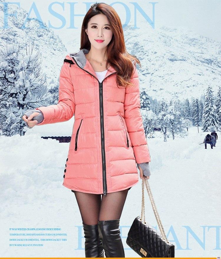 b6faf4428 Hot Sale] Women Winter Hooded Warm Coat Plus Size Candy Color Cotton ...
