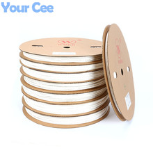 A Roll 100m 2:1 Sleeving Hot Heat Cable Protection Heating Tubing Heat Shrink Tube White UL SGS 5mm 6mm 8mm 10mm