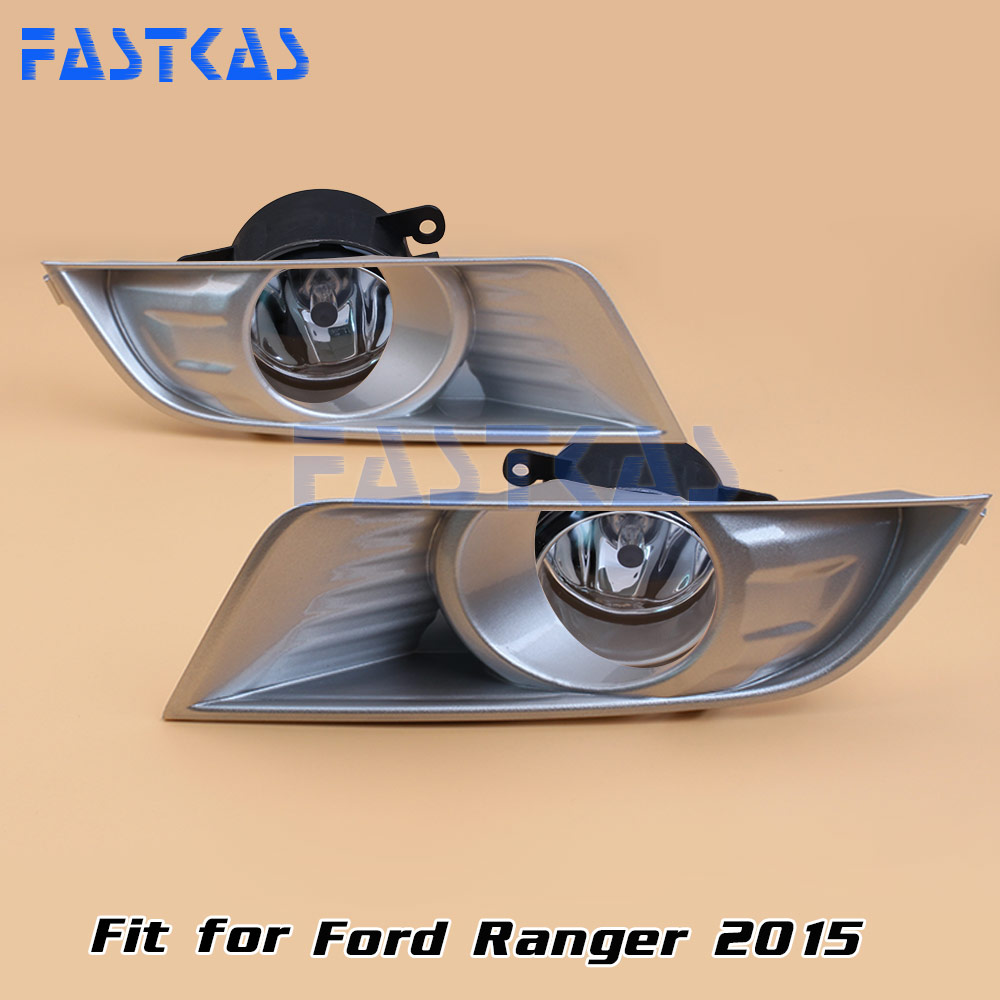 12v 55W Car Fog Light Assembly for Ford Ranger 2015 Front Fog Light Lamp with Harness Relay Fog Light 12v 55w car fog light assembly for ford focus hatchback 2009 2010 2011 front fog light lamp with harness relay fog light