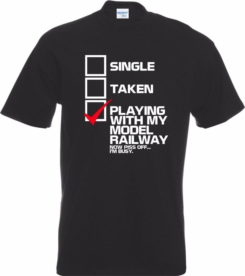 2018 Cotton Man Clothing Casual Funny Single Taking Model Railway T-Shirt Gift Man Hobbies Collector Tee Shirt