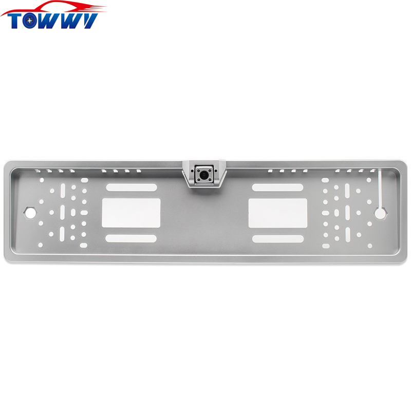 OEPZ421 European License Plate Frame Rearview Camera With 170 Degree View Angle and 4 LED Light
