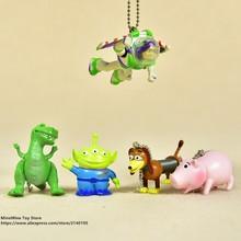 Disney Toy Story 3 Buzz Lightyear Woody Jessie 3-6 cm Q versión PVC figuras  de acción muñecas juguetes para niños modelo para lo. b5fe8ac8a86