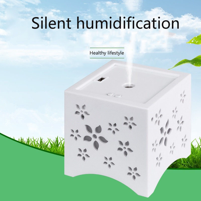 Small Air Conditioning Appliances Humidifiers Knowledgeable New Square Classical Aromatherapy Device Colorful Multi-function Book Lamp Fan Usb Mini Atomizing Hydrating Humidifier Possessing Chinese Flavors