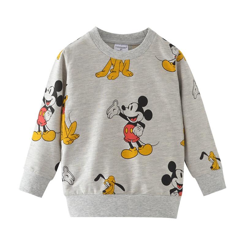 Boys Girls Cotton Long Sleeve Printed Animal Sweater