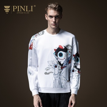 Moleton Masculino Linkin Park Moletom Full Pinli Fall 2019 New Men's Printed Suit With Round Neck And Tide Brand Top B193109113